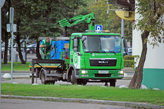 City tow truck. The city tow truck on the parking for transport. Moscow Stock Photos