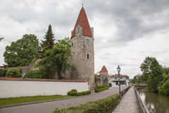 City tower in Abensberg Stock Photo