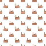 City tower brown building icon, flat style royalty free illustration