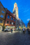 The City Tower in Innsbruck, Austria. Stock Photography