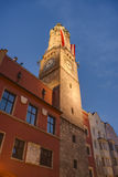 The City Tower in Innsbruck, Austria. Royalty Free Stock Images
