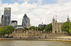 The City & The Tower of London Royalty Free Stock Photography