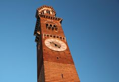 Torre dei lamberti in Verona Italy Stock Image