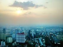 City. Town building bangkok sunset stock photo