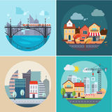 City and Town Landscapes, Buildings Stock Image