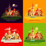 City, town vector logo design template. house Royalty Free Stock Images