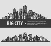 City and town vector logo design template Royalty Free Stock Image