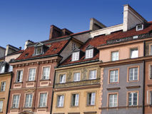 City townhouses. Exterior of old, quaint city townhouses Stock Photos