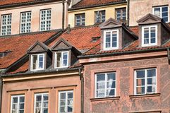 City townhouses Stock Photography
