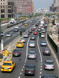 City Traffic. Not quite rush hour in lower Manhattan royalty free stock photography