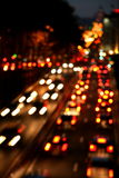 City traffic. During nights and weekends
