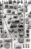City Traffic. Aerial view illustration of downtown city traffic Royalty Free Stock Photo