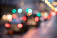 City traffic, blurred: Light points traffic jam, transport concept. City traffic in the night, blurred with light points lights evening car jam highway driving stock photos
