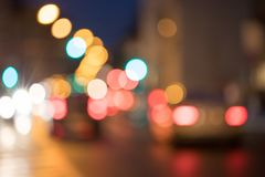 City traffic, blurred: Light points traffic jam, transport concept. City traffic in the night, blurred with light points, lights, evening, car, jam, highway stock image