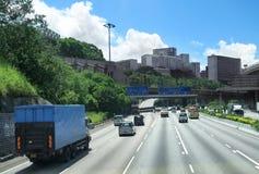 City traffic in Hong Kong. Royalty Free Stock Photo