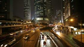 City traffic Hong Kong stock video footage