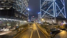 City traffic Hong Kong stock footage