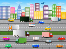 City traffic illustration Royalty Free Stock Photos