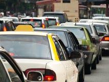 City traffic jam Stock Images