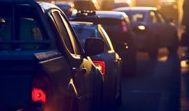 City traffic jam Royalty Free Stock Photo