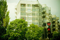 City traffic light Royalty Free Stock Image