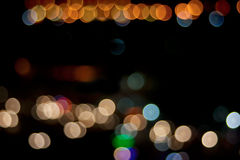 City and traffic light bokeh abstract Blur Background view from. Above.Bokeh is the aesthetic quality of the blur produced in the out of focus points of light stock image