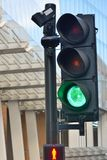 City traffic light at green Stock Image