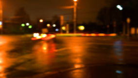 City traffic. Light trails of city traffic, motion of evening road stock video footage