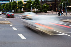 City traffic in motion blur Royalty Free Stock Image