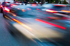 City traffic in motion blur Stock Image