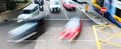 City traffic in motion blur Royalty Free Stock Images