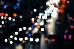 City Traffic at Night. Blurred Lights of Rush Hour City Traffic Royalty Free Stock Photography