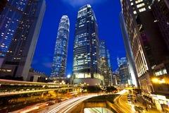 City traffic at night Royalty Free Stock Image