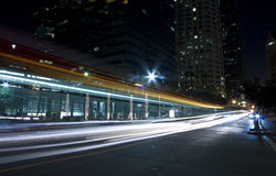 City traffic at night Royalty Free Stock Photos