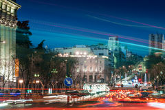 City traffic at night Royalty Free Stock Images