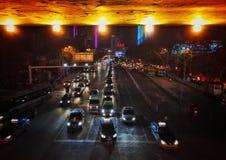 City traffic night scene Stock Photo