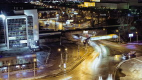 City Traffic At Night, Time Lapse, Russia. City Traffic At Night time lapse. 4K (UHD) Resolution 4096×2304 Video Frame Rate 29.97 Length 0:10 stock footage