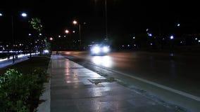 City Traffic at Night stock video