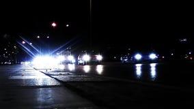 City Traffic at Night stock footage