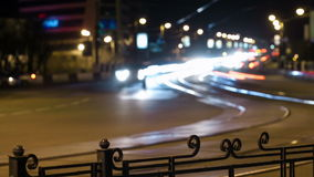 City traffic panning time lapse at night. stock footage