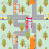 City traffic seamless pattern Stock Images