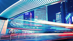 City traffic in shanghai. Light trails of city traffic in shanghai, china Stock Images