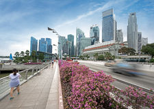 City traffic in Singapore Stock Image