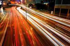 City traffic streams Stock Photos