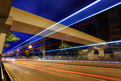 City traffic streams Royalty Free Stock Photo