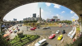 City Traffic Time Lapse Bangkok. V110. City traffic time lapse of Victory Monument roundabout in Bangkok stock footage