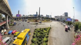 City Traffic Time Lapse Bangkok. V112. City traffic time lapse of Victory Monument roundabout in Bangkok stock footage