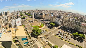 City Traffic Time Lapse Buenos Aires Above