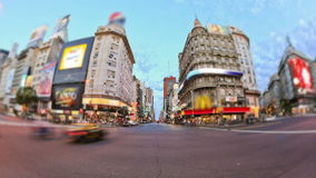 City Traffic Time Lapse Buenos Aires stock footage