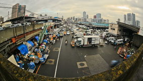 City Traffic Time Lapse Tokyo Fish Market stock video footage